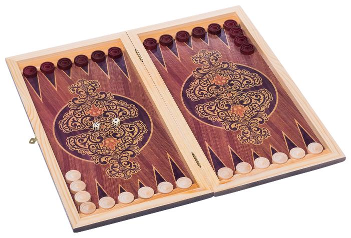 Купить Нарды средние, с деревянными шашками, тонированные Colton по низкой цене с доставкой из Яндекс.Маркета