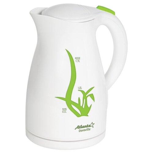 Чайник Atlanta ATH-2374, белый/зеленый чайник atlanta ath 2461 белый
