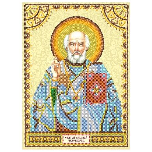Купить ABRIS ART Схема для вышивки бисером Святой Николай 17 х 23 см (ACK-047), Наборы для вышивания