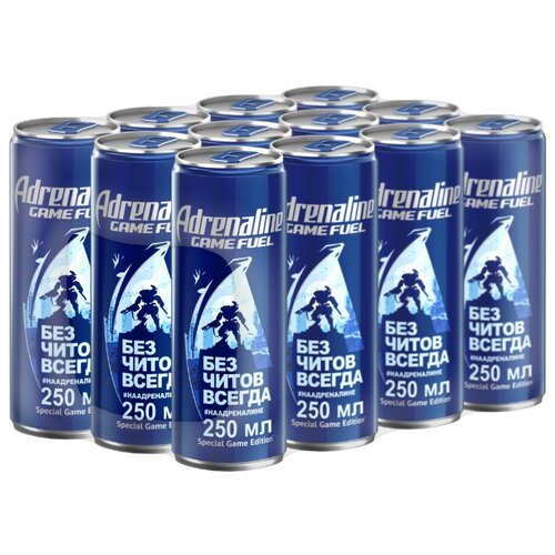 Энергетический напиток Adrenaline Game Fuel, 0.25 л, 12 шт.