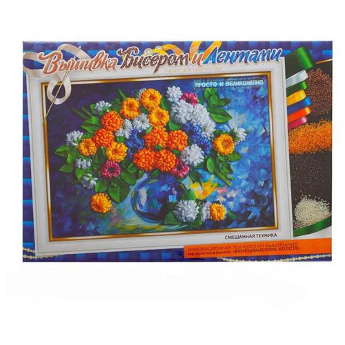 Купить Danko Toys Вышивка для детей Хризантемы 35 х 25 см (BV01R03), Наборы для вышивания