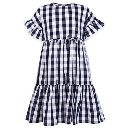 Платье Il Gufo размер 92, клетка/синий/белый джемпер il gufo размер 92 синий белый