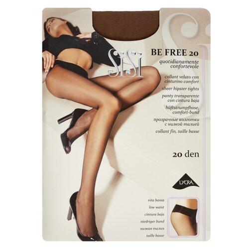 Фото - Колготки Sisi Be Free 20 den, размер 4-L, naturelle (коричневый) колготки sisi miss 40 den размер 4 l naturelle коричневый