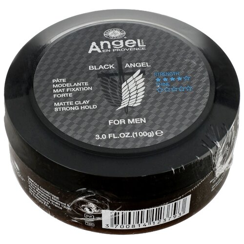 Angel Provence Глина Black Angel For Men, сильная фиксация, 100 г