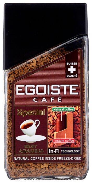 Кофе растворимый Egoiste Special сублимированный с молотым кофе, стеклянная банка