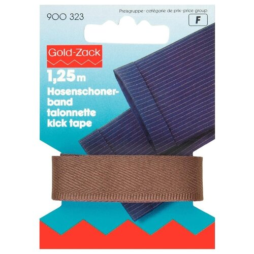 Купить Prym Тесьма для брюк Gold Zack (900323), средне-коричневый 1.7 см х 1.25 м, Технические ленты и тесьма