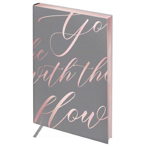 Ежедневник Greenwich Line Vision. Powder pink недатированный, искусственная кожа, А5, 80 листов, серый/розовый ежедневник index avanti недатированный искусственная кожа а5 168 листов серый