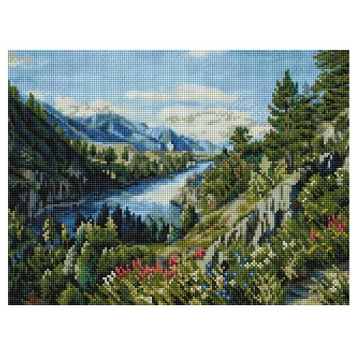 Мозаичная картина Река Катунь, 30x40 см