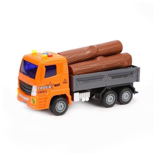 Купить Грузовик Senyue Toys 89003A-7 1:18 22 см серый/оранжевый/коричневый, Машинки и техника
