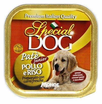 Корм для собак Special Dog Паштет для щенков Курица с рисом (0.150 кг) 1 шт.