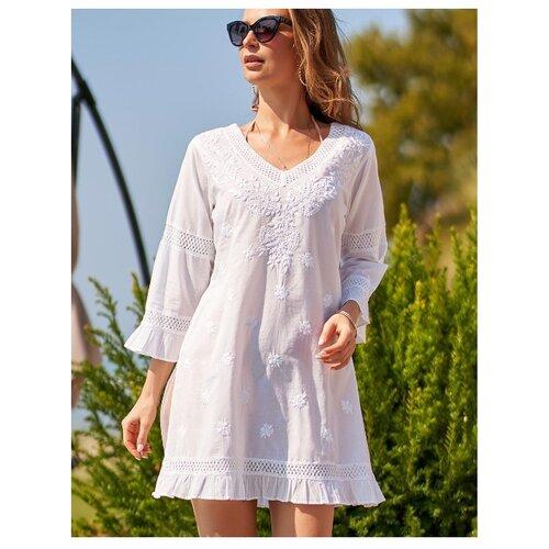 Пляжная туника MIA-AMORE Argentina 1361 размер XS белый платье mia amore lilia размер xs белый