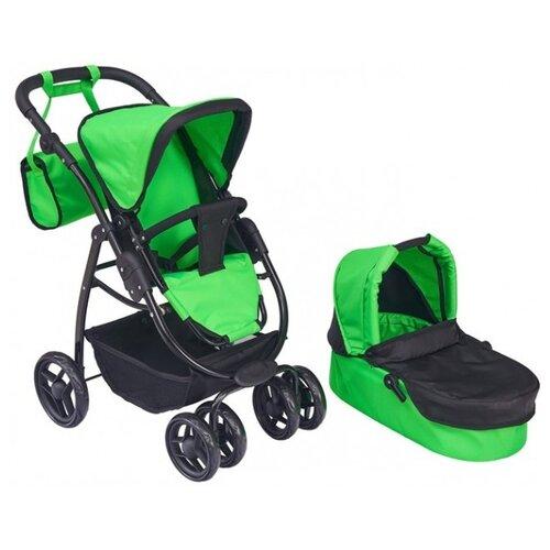 Купить Коляска-трансформер Buggy Boom Amidea (9000) зеленый/черный, Коляски для кукол