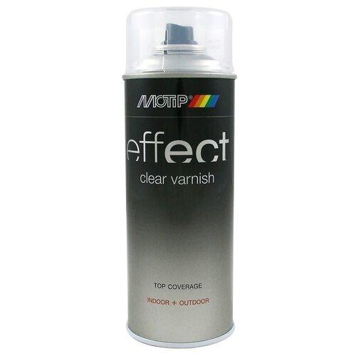 Лак MOTIP Deco effect сатиновый прозрачный 400 мл
