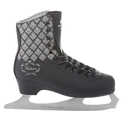 Фигурные коньки СК (Спортивная коллекция) Fashion Lux Black черный р. 36