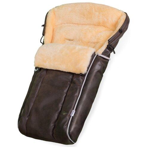 Купить Конверт в коляску Esspero Lukas Lux (натуральная 100% шерсть) (Brown), Конверты и спальные мешки