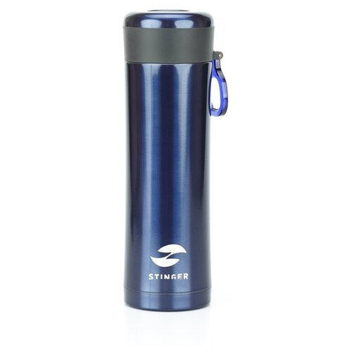 Термокружка Stinger, 0,42 л, сталь/пластик, синий матовый, 7,5 х 6,9 х 22,2 см