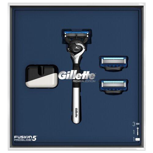 Фото - Набор Gillette подарочный: бритвенный станок Fusion5 ProGlide Flexball, подставка, сменные кассеты 2 шт. набор gillette fusion proglide flexball gil 81628134