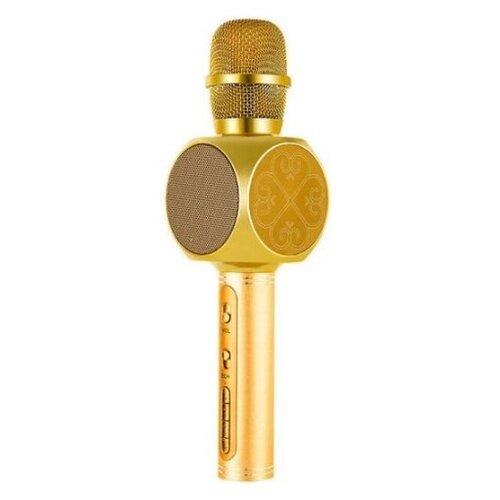 Беспроводной караоке-микрофон SY-63 (золотой)