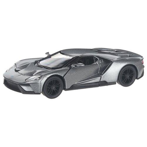 Купить Детская инерционная металлическая машинка с открывающимися дверями, модель 2017 Ford GT, серебристый, Serinity Toys, Машинки и техника