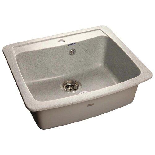 Врезная кухонная мойка 60.5 см GranFest Standart GF-S605 серый