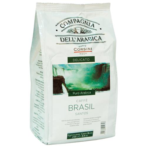 цена Кофе в зернах Compagnia Dell` Arabica Brasil Santos, арабика, 250 г онлайн в 2017 году