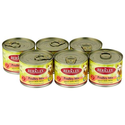 Фото - Влажный корм для собак Berkley (0.2 кг) 6 шт. Паштет для собак #9 Рагу из птицы 6шт. х 200г влажный корм для собак berkley 0 4 кг 6 шт паштет для собак оленина с коричневым рисом 6шт х 400г