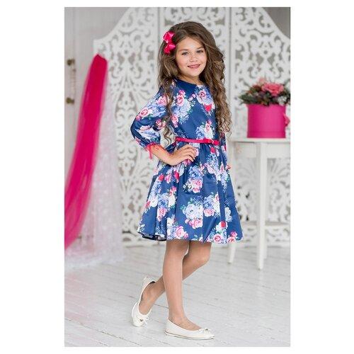 Купить Платье ALOLIKA размер 134-68-60, т.синий, Платья и сарафаны