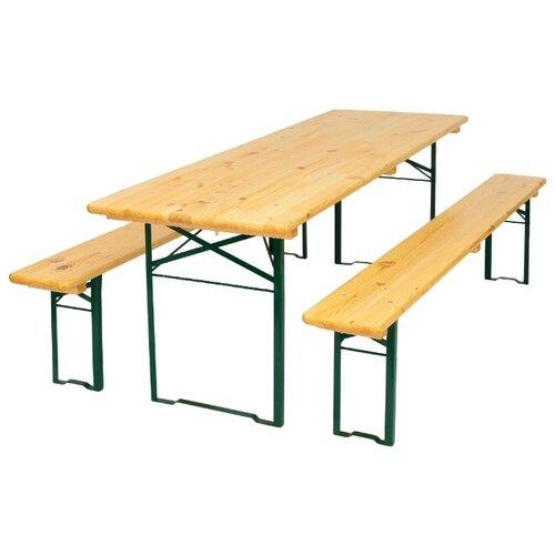 Комплект мебели ФОТОН Браурай ПГ 700 (стол, 2 скамьи), сосна