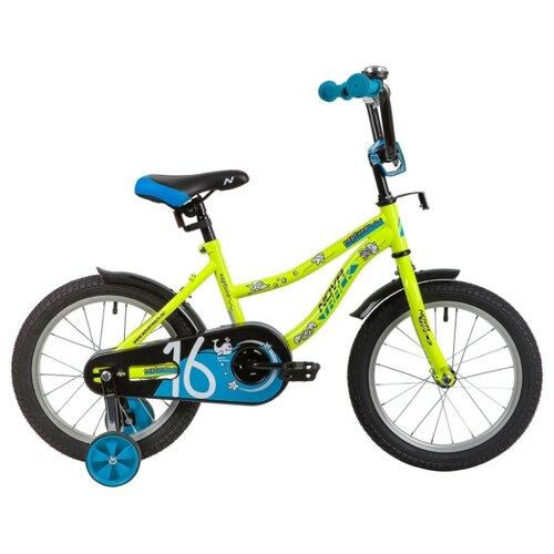 цена на Детский велосипед Novatrack Neptune 16 (2020) зеленый (требует финальной сборки)