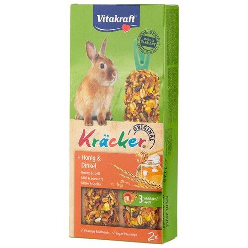Лакомство для кроликов Vitakraft Крекеры Original мед и спельта 112 г