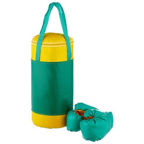 Набор для бокса КМС детский № 2 зеленый/желтый