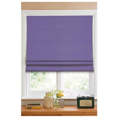 Фото - Римская штора Эскар тканевая (фиолетовый), 80х160 см римская штора томдом олинави нефритовый