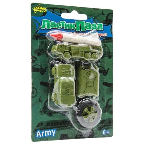 Фото - Бумбарам Ластик-пазл Военная техника зеленый ластик треугольный зеленый