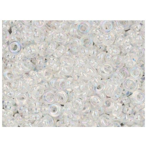 Бисер TOHO Demi Round, 08/0, 500 грамм, цвет: 0161 прозрачный/перламутр