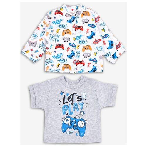 Купить Комплект одежды Веселый Малыш размер 86, серый/белый/синий, Комплекты