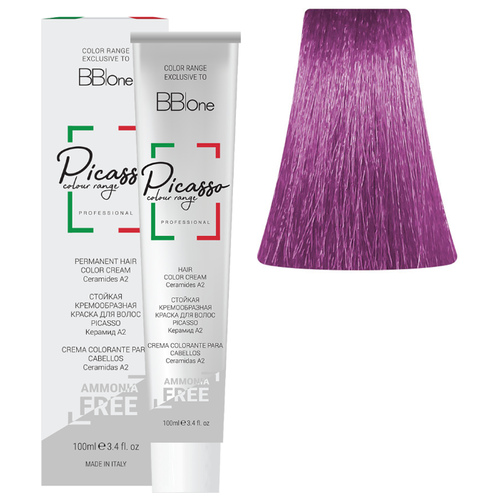 BB One Picasso Colour Range Перманентная крем-краска без аммиака, 100 мл, 9.02 очень светло-фиолетовый блонд bb one picasso colour range перманентная крем краска без аммиака 100 мл 9 32 очень светлый блонд бежевый