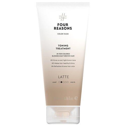 Купить Four Reasons Тонирующая маска для поддержания цвета окрашенных волос Toning Treatment Latte, 200 мл