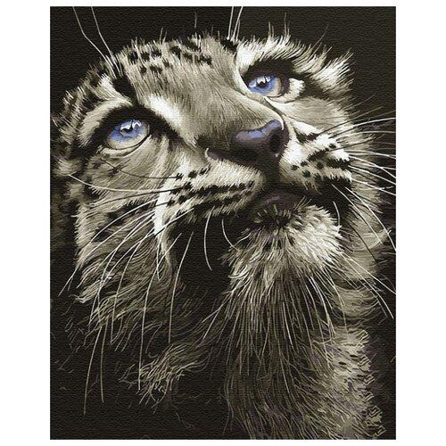 Купить Картина по номерам ВанГогВоМне ZX 22625 Взгляд снежного барса 40х50 см, Картины по номерам и контурам