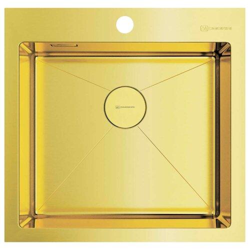 Фото - Врезная кухонная мойка 51 см OMOIKIRI Akisame 51-LG светлое золото врезная кухонная мойка 46 см omoikiri akisame 46 lg 4973081 светлое золото