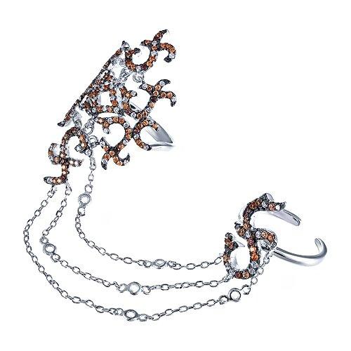 Фото - JV Серебряное кольцо с кубическим цирконием SS-B0871RBC1-KO-001-WG, размер 18 jv серебряное кольцо с кубическим цирконием dm0026r ko 001 wg размер 18