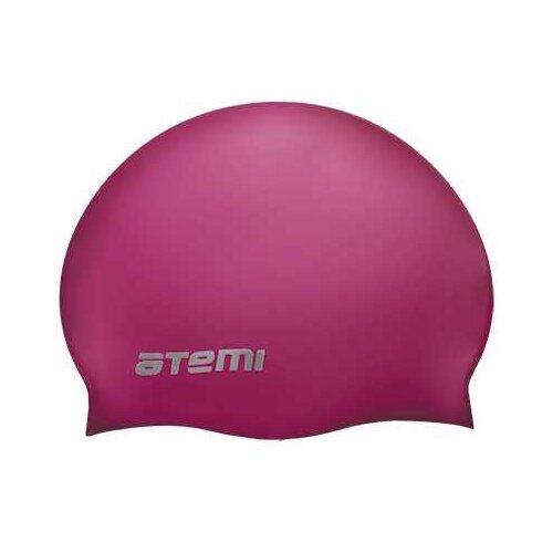 Фото - Шапочка для плавания Atemi, силикон, вишневая, Sc304 аксессуары для плавания atemi шапочка для плавания графика psc422