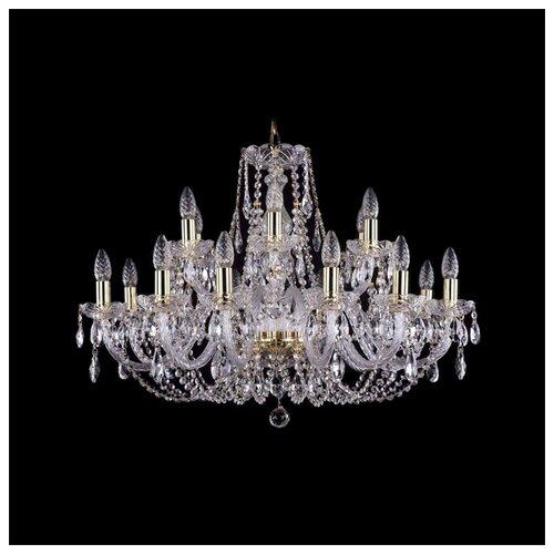 Люстра Bohemia Ivele Crystal 1406 1406/12+6/300/G, E14, 720 Вт bohemia ivele crystal 1406 24 12 12 6 530 230 4d g