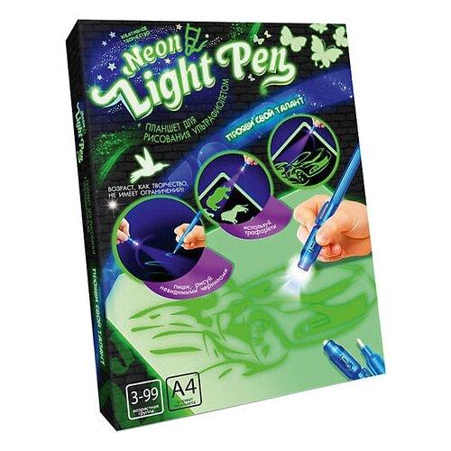 Купить Планшет для рисования светом детский Danko Toys № 2 Neon Light Pen, А4 (NLP-01-02) зеленый, Доски и мольберты