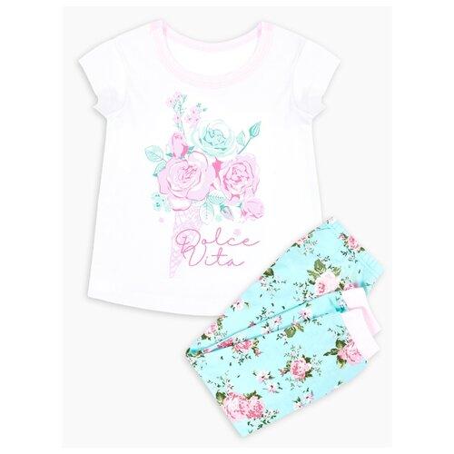 Фото - Пижама Веселый Малыш размер 92, белый/мятный/розовый пижама веселый малыш размер 92 серый синий
