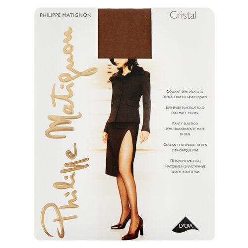 Колготки Philippe Matignon Cristal 30 den, размер 3-M, glace (бежевый) колготки philippe matignon cristal 30 den размер 5 maxi xl glace бежевый