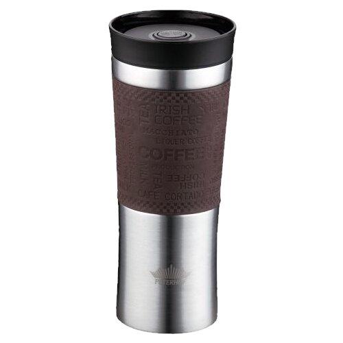 Термокружка Peterhof PH-12439, 0.48 л коричневый
