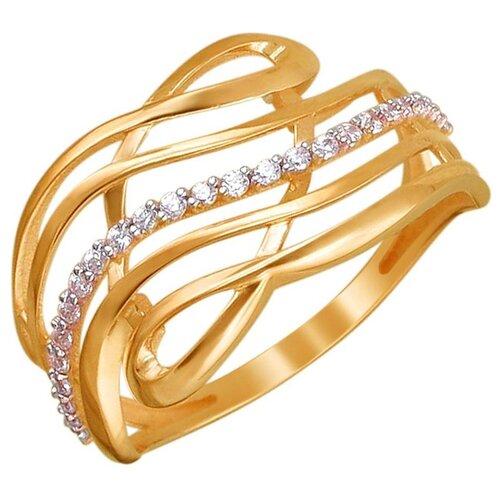 Эстет Кольцо с 25 фианитами из красного золота 01К1111308, размер 17.5 фото