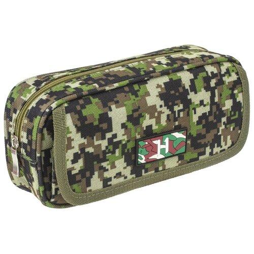 Купить BRAUBERG Пенал Military зеленый, Пеналы