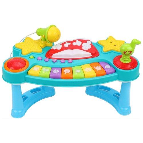 Развивающая игрушка Жирафики Пианино с микрофоном голубой/красный/желтый