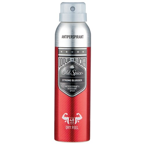 Дезодорант-антиперспирант спрей Old Spice Odour Blocker Strong Slugger, 150 мл дезодорант old spice odour blocker strong slugger 150мл аэрозоль антиперсп муж